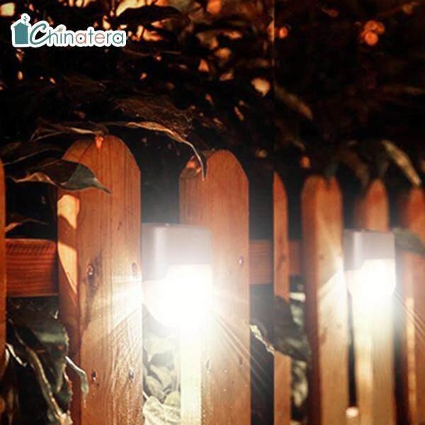 Đèn LED Trang Trí Năng Lượng Mặt Trời Chinatera, 4 Bóng, Chống Nước, Đặt Trên Cầu Thang, Bậc Thang, Hàng Rào, Dùng Cho Sân Hiên, Vườn, Sân Vườn