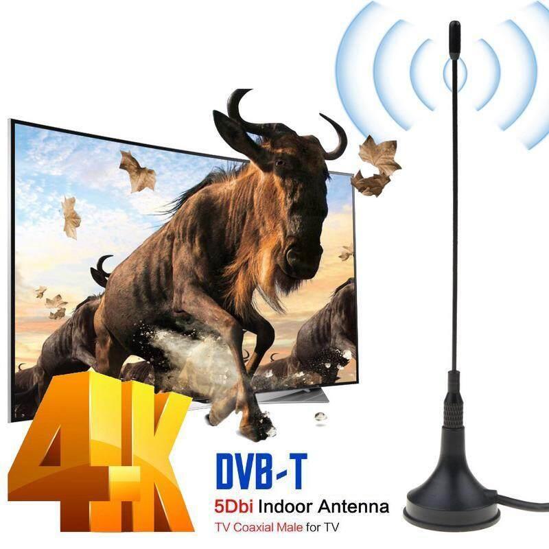 Dvb-t/T2 5DBi Antena Dalam Ruangan Antena TV Mini Udara Digital untuk Dvb-t TV HDTV Mudah Dipasang