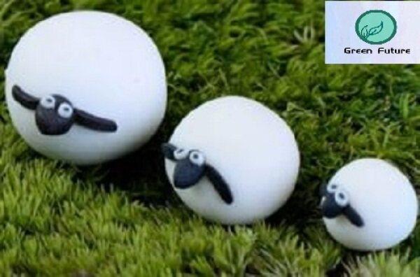 Miniature Mini for Succulent Terrarium Bonsai Cake Mini Cute Decor 绵羊家庭盆栽摆件 Sheep Family potted plant decoration