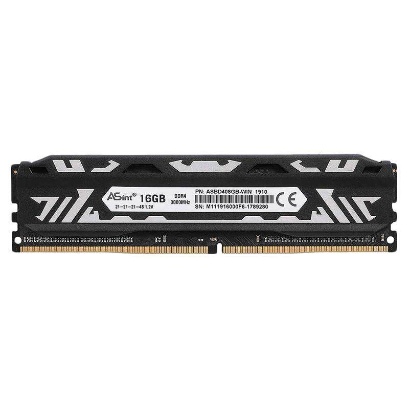 ASint DDR4 2666MHz 16GB High Performance PC RAM 8-Layer PCB XMP2.0 with High Thermal Conductivity Heat Sink Desktop Memory