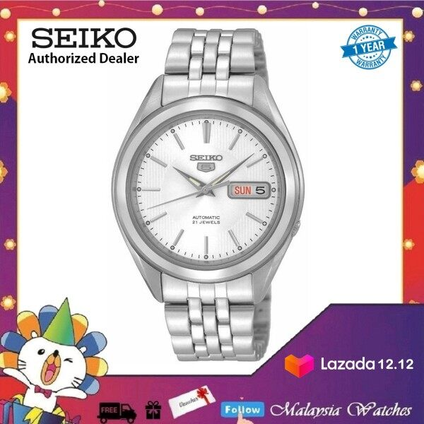 Seiko 5 SNKL15K1 Automatic See-thru Back Stainless Steel Bracelet Gents Watch Malaysia