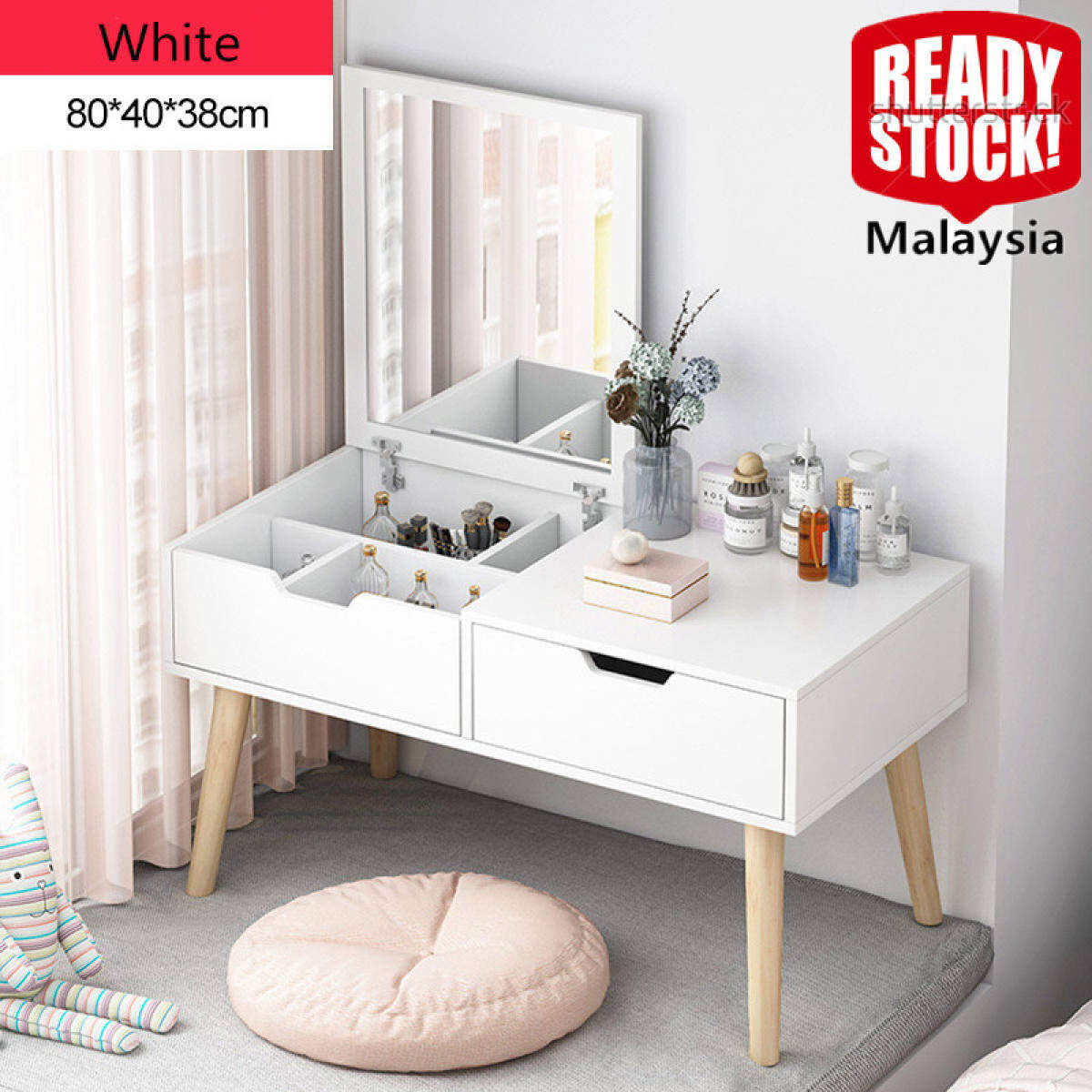 Dressers For Bedroom Dressing Table With Mirror And Makeup Vanity Cabinet Makeup Organizer Chest Drawers Lazada