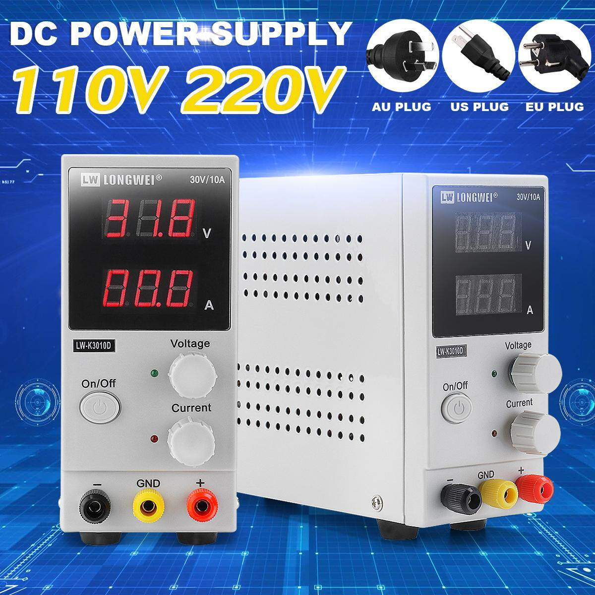 (Up to 60% Off)Qianmei 0-30V 0-10A Adjustable Digital Display DC Moving  Power Supply Switching Power Source (AU Plug)