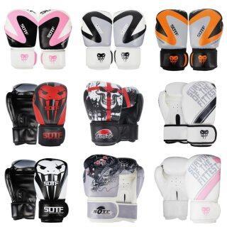 SUOTF 6Oz-12Oz MMA Khốc Liệt Chiến Đấu Đấm Bốc Thể Thao Găng Tay Da Tiger Muay Thai Boxing Pads Chiến Đấu Trẻ Em Phụ Nữ Đàn Ông Sanda Boxe thumbnail