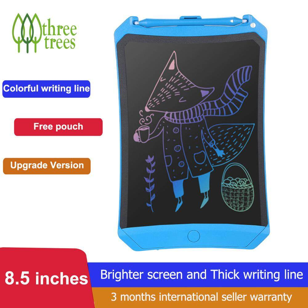 Threetrees 8.5 inch LCD Writing Tablet With Carring Pouch And Accessory Kit, 2019 Upgraded Colorful Screen 8.5 Inch Electronic Writing Board Doodle and Scribble Board Magnetic Memo Notes for Kid & Adults ,Suit For Office Home ,School