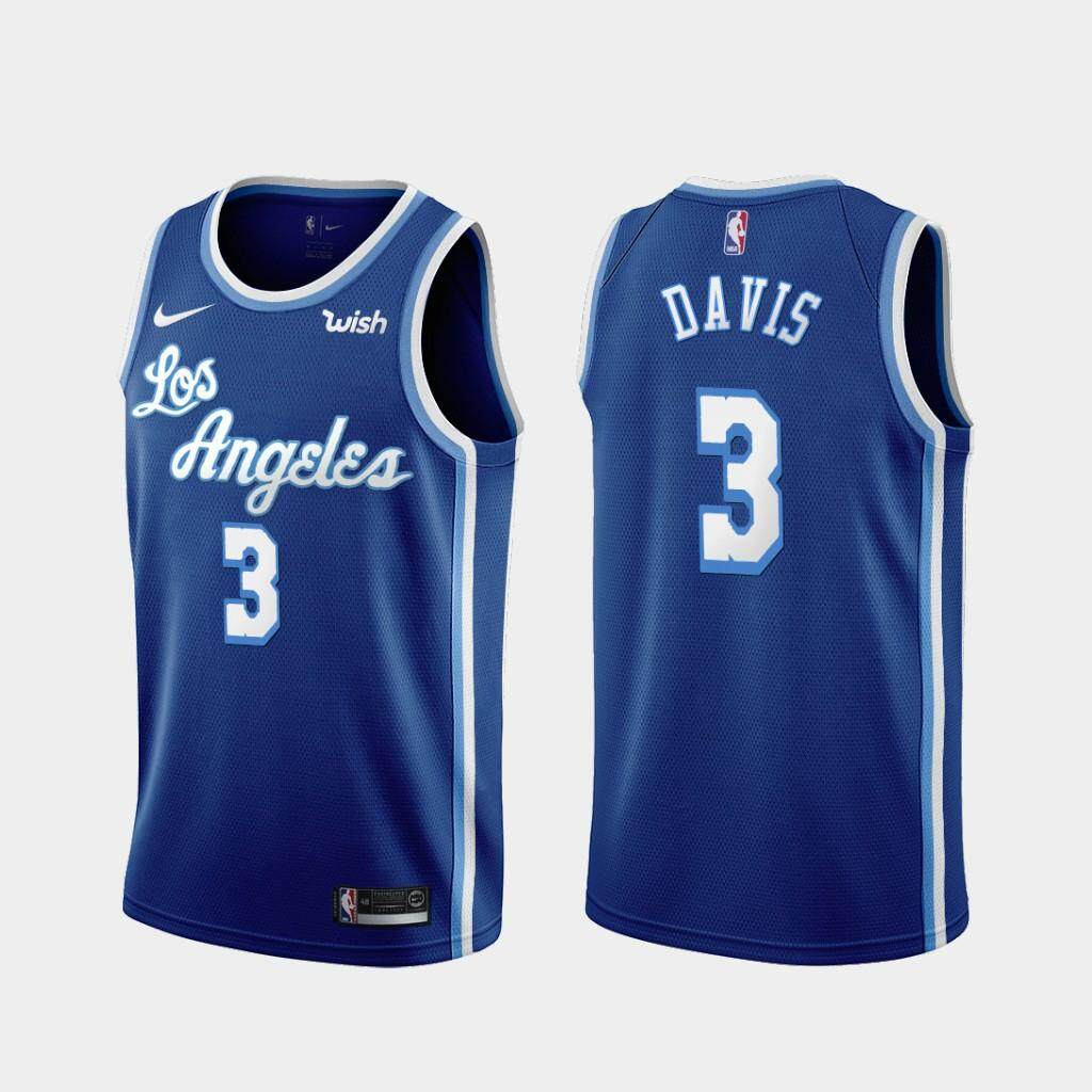 new style b5645 d24ce Genuine Authentic Men's Los Angeles_Lakers #3 Anthony Davis Swingman  Throwback Jersey