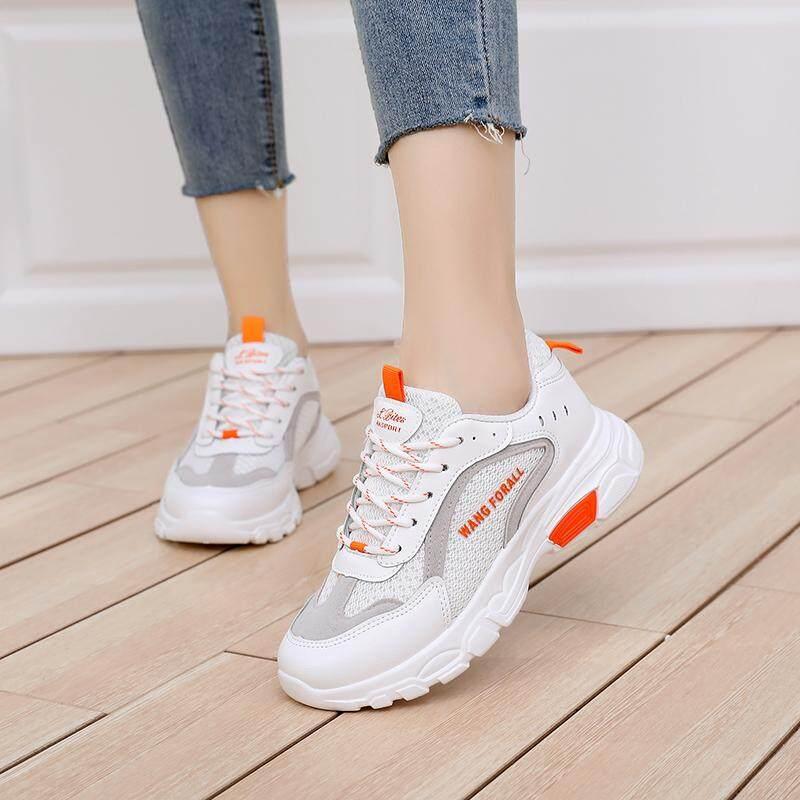 รองเท้าเข้าได้กับทุกชุดหญิง 2019 ระบายอากาศคอลเลคชั่นฤดูใบไม่ผลิสไตล์เกาหลีฤดูใบไม้ผลิและฤดูใบไม้ร่วงแบนลำลองใหม่รองเท้าออกกำลังกายตาข่ายสีขาวรองเท้าผู้หญิง By Taobao Collection.