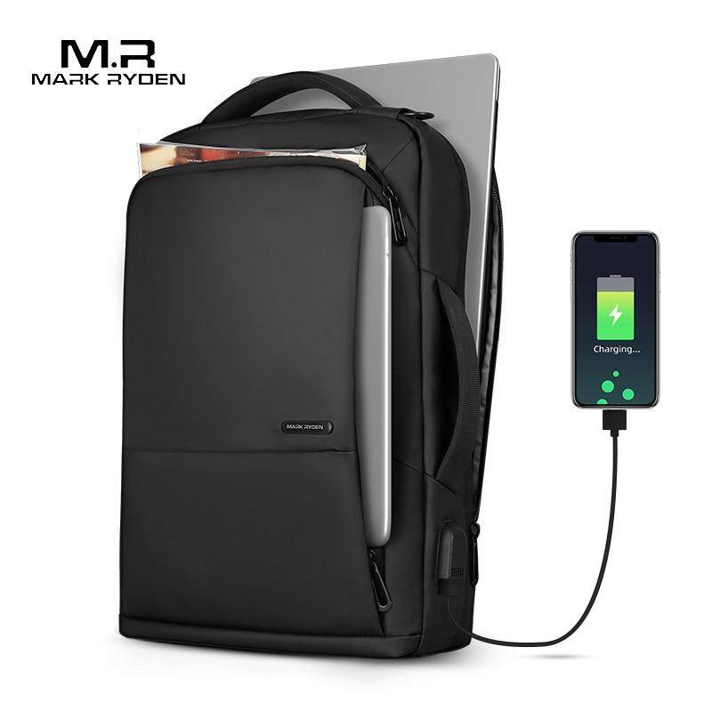 Mark Reden, Male Backpack, USB Anti-theft Backpack, 15.6-inch Raincoat Laptop Backpack