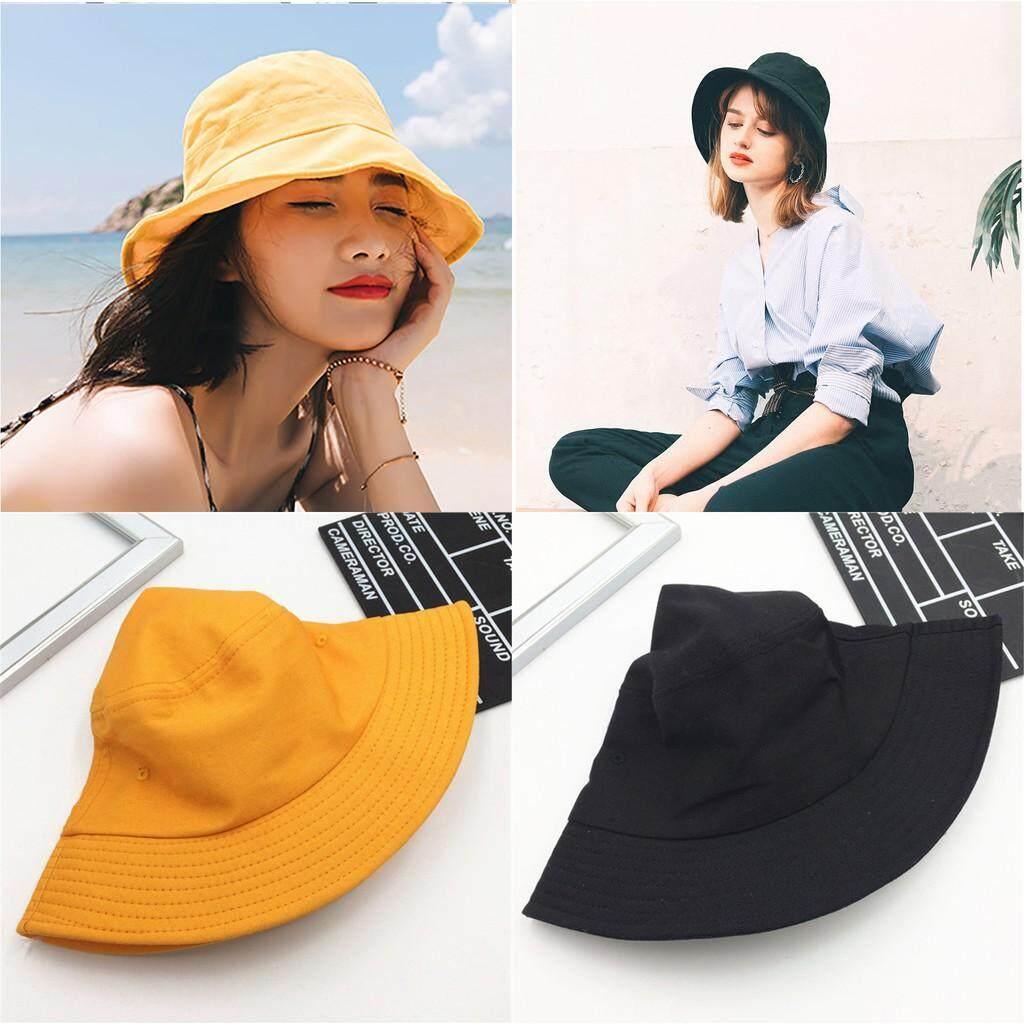 6b474a774 Fashion Bucket Hat Fisherman Cap Solid Color Travel Summer Beach Sun Hat  Women
