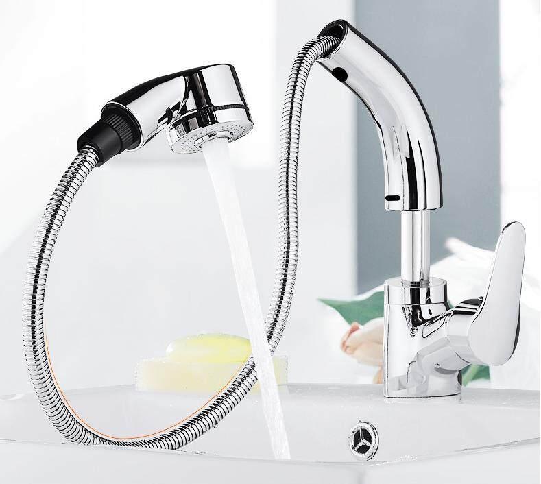 Sccot ห้องน้ำกำแพงโครเมี่ยมติดร้อนเย็น Dual น้ำพุก๊อกผสมก๊อกน้ำ By Feng.1.
