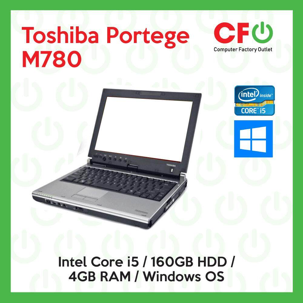 Toshiba Portage M780 / Intel Core i5 / 4GB RAM / 160GB HDD / Windows OS Laptop / 1 Month Warranty (Factory Refurbished) Malaysia