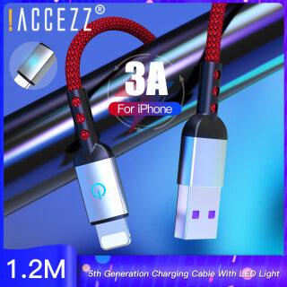 Dây Sạc Nhanh ACCEZZ 1.2M Cho IPhone, Dây Sạc Nhanh USB Đèn LED Cho IPhone 12 11 Pro X 8 7 6S Plus 5 IPad 3A thumbnail