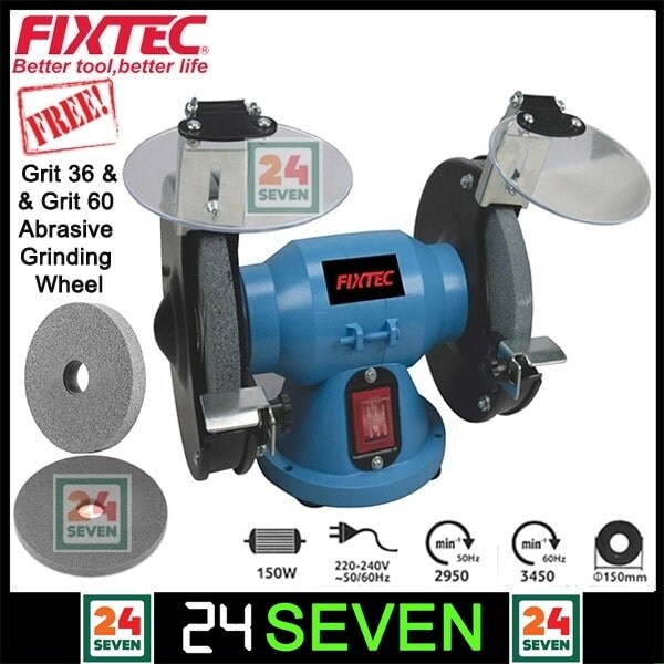 GREAT PROMOTIONS FIXTEC Bench Grinder 150mm 6 Mini Bench Grinder Machine 6 Original Product & High Quality