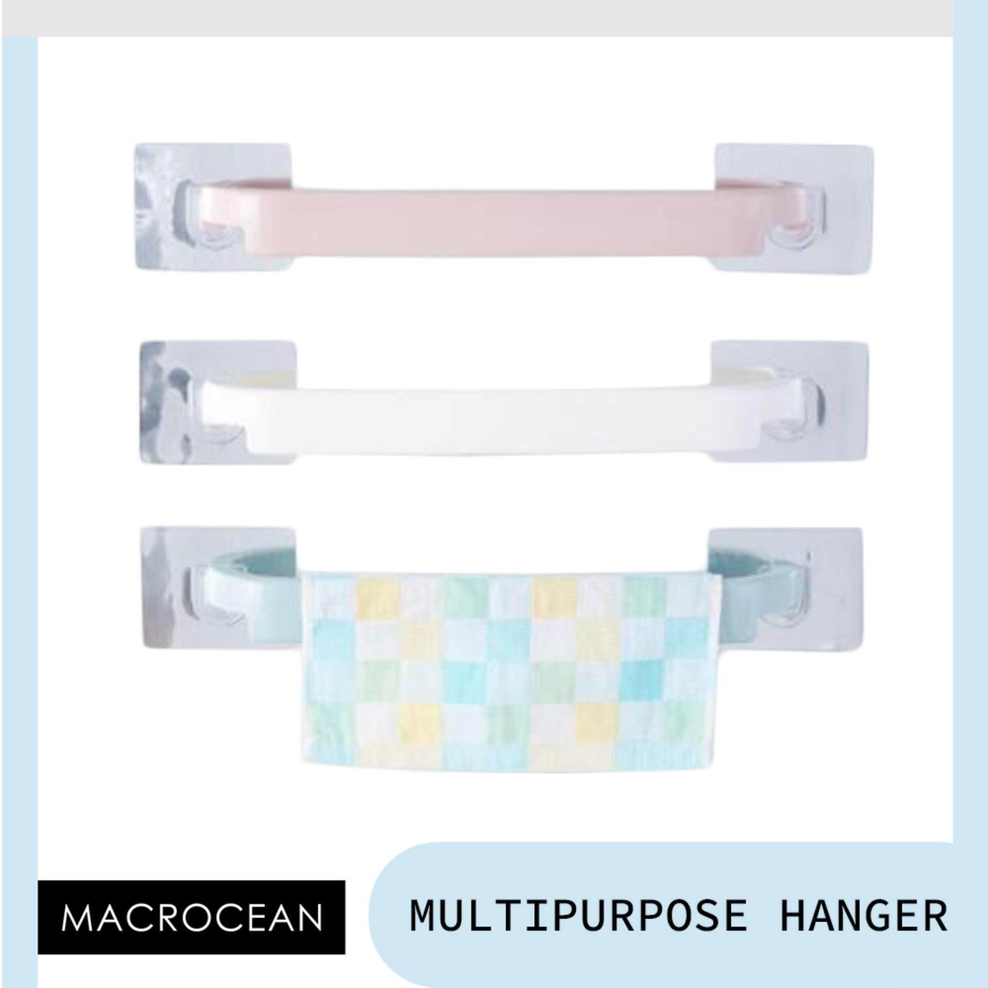 Bathroom Multipurpose Towel Hanger Space Saving Plastic Kitchen Storage By Macrocean.