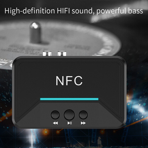【HOT SALE】Receiver Bluetooth 5.0 3.5mm AUX RCA Adapter Wireless Stereo Audio Receiver for Car Speaker