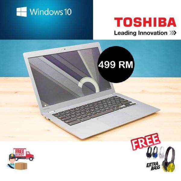Toshiba laptop windows10 ,14 inch size with free headphone!! Malaysia