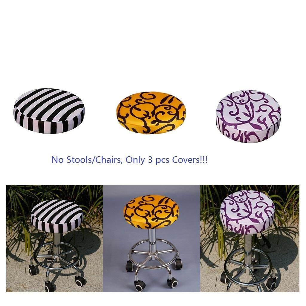 Perfk 3pcs 11-14  Bar Stool Covers Round Chair Cover Cushions Sleeve Slipcovers