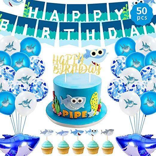 4 Style//1 SET Baby Shark Balloon Children/'s Favor Birthday Party Supplies Decor