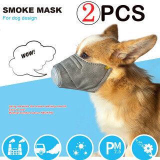 2 Chiếc Khẩu Trang Cotton Mặt Mềm Mại Cho Chó, Bộ Lọc Hô Hấp Pet PM2.5 Che Mặt Chống Bụi Đang Giảm Giá thumbnail
