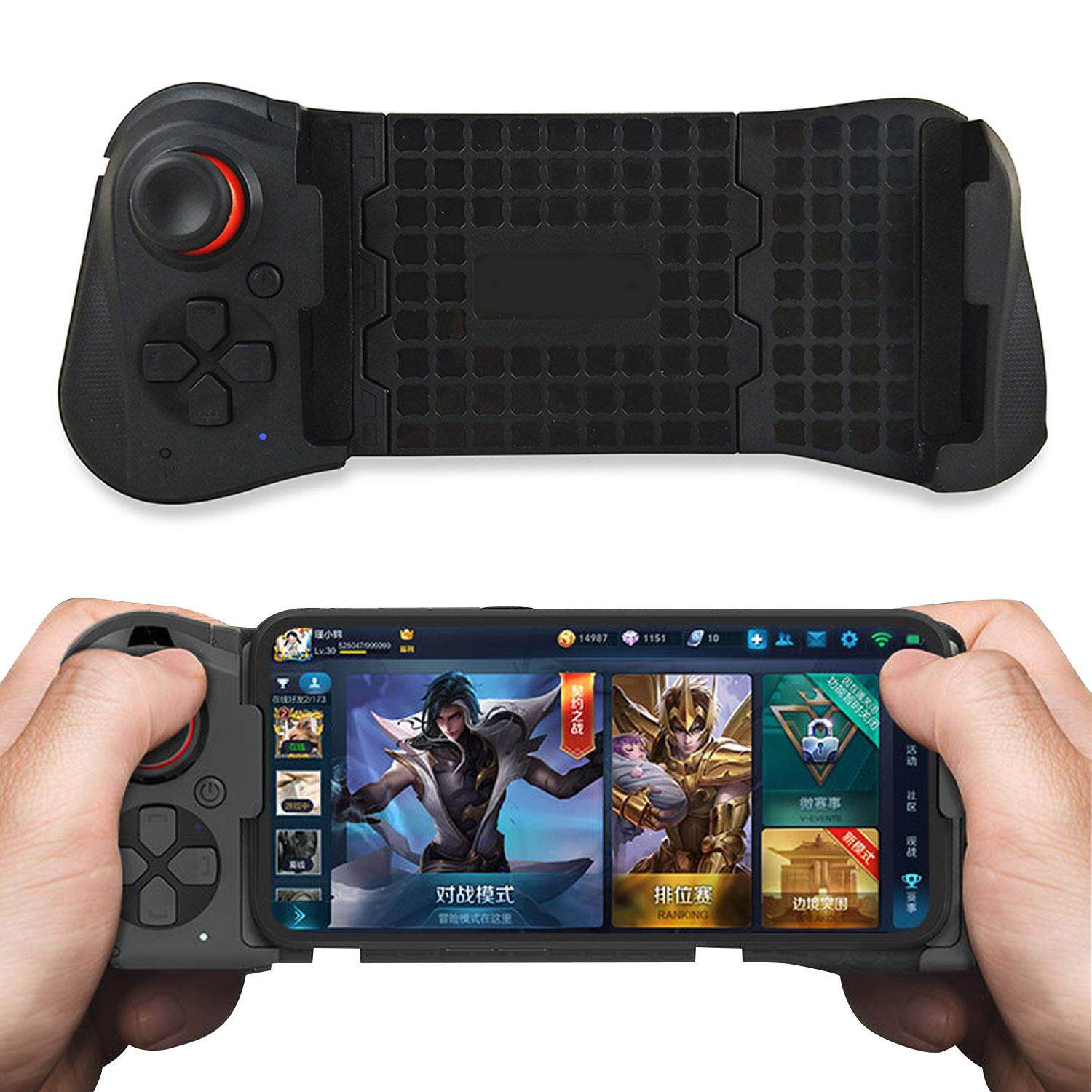 Fashion Single Hand Stretchable Wireless Bluetooth Gaming Controller Gamepad Joystick Compatible With Android Ios Iphone Huawei Samsung Xiaomi By Stoneky.
