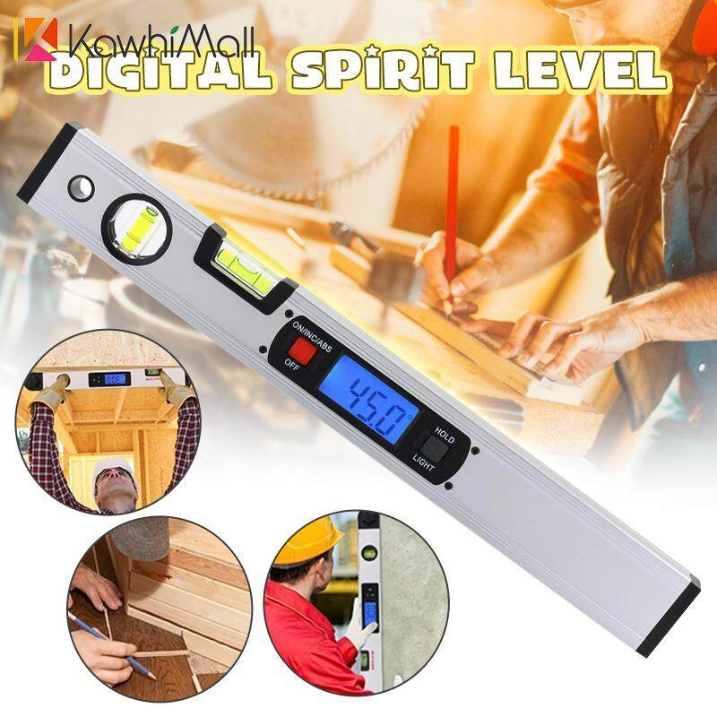 Digital Spirit Level Inclinometer 360° Angle Finder Quadrants Without Magnetic By Kawhi Mall.