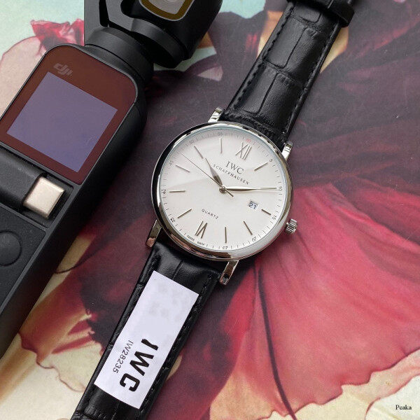 Original IWCS Watch Quartz Movement Watch Leather Strap Business Unisex Simple Wrist Watch Malaysia