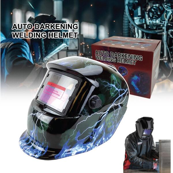 Safety Auto Darkening Welding Helmet Colorful Design Eyes Protection Mask Lightweight Full Face Shield Solar Power