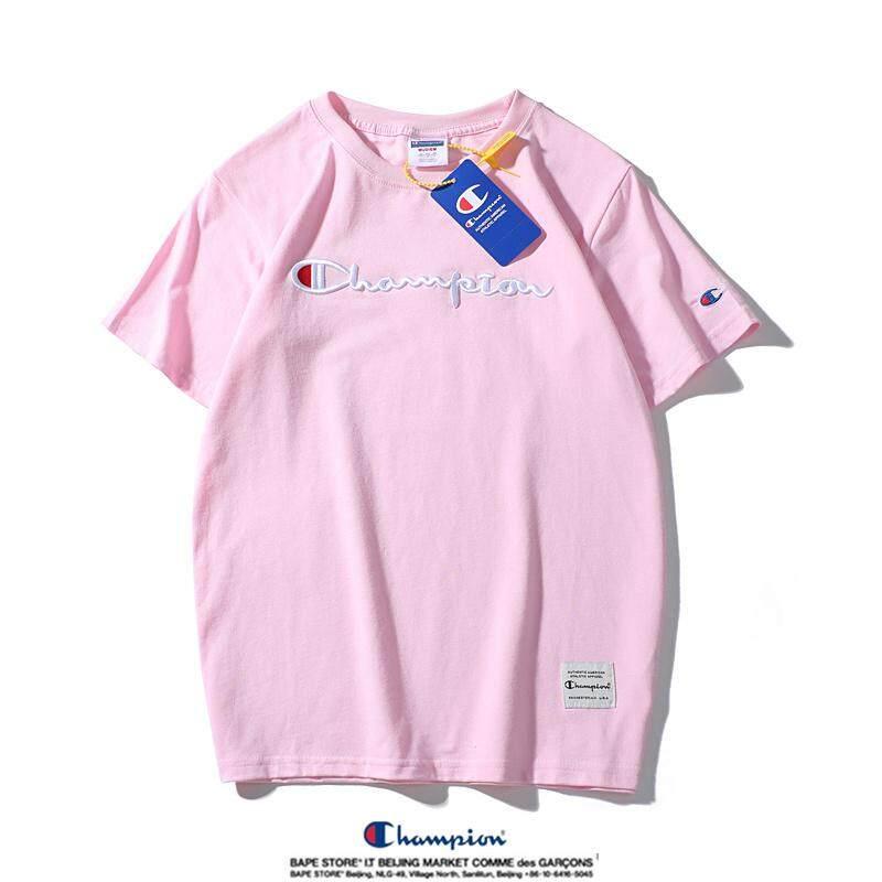 399f0068e Ready Stock Original New Champion Short-Sleeved Round Neck Pure Cotton T- Shirt Couple