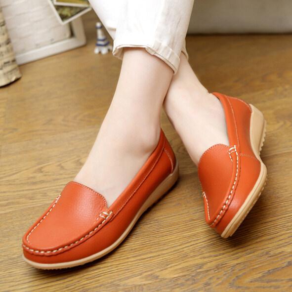 Giày Da Mùa Hè Đế Bệt Cho Phụ Nữ Mang Thai, Giày Công Sở Kích Thước Lớn Thoáng Khí Giày Nữ Đế Bằng Chống Trượt Giày Dành Cho Các Bà Mẹ Giày Y Tá Rỗng Thường Ngày giá rẻ