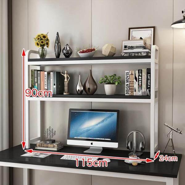 2 Tier Desktop Bookshelf, Industrial Style Bookcases Furniture, Office Storage Shelves, Dormitory Bookcase