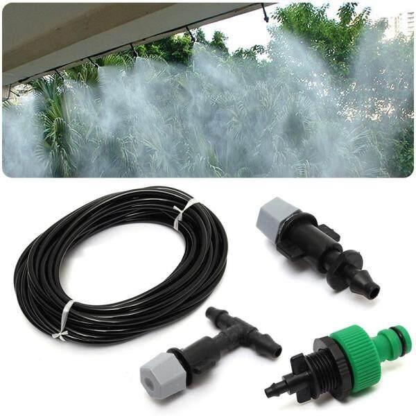 10m Water Misting Cooling Irrigation System Sprinkler +10pc Nozzle Garden