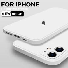 Ốp Điện Thoại Silicon Lỏng Cho IPhone 12 Pro Mini Max 11 Pro Max SE 2020 X XR XS MAX 8 7 6 6S Plus Ốp Lưng Siêu Mỏng Chống Sốc Bảo Vệ Toàn Diện Với Ống Kính Máy Ảnh logo