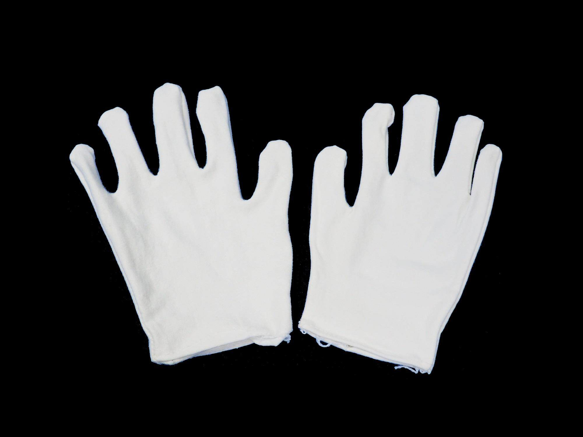 1 Pair White Cotton Glove for Jewellery / Watches / Antique Inspection