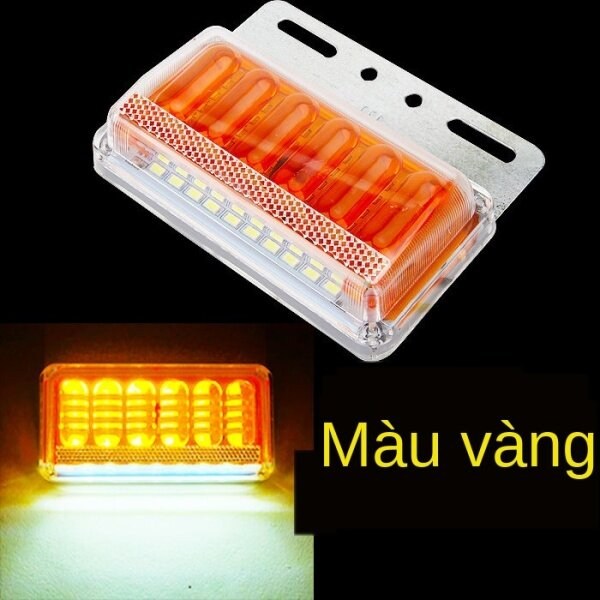 Đèn Cạnh Xe Tải Lớn Đèn Eo 24 V Theo Đèn Bên Đèn Led Siêu Sáng Chống Nước Nhiều Màu Sắc Xe Sơ Mi Rơ Moóc 12 V