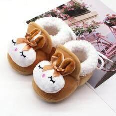 KIO Giày Em Bé Giày Bốt Mùa Đông Ấm Áp Hình Thỏ Hoạt Hình Cho Bé Trai Bé Gái Trẻ Mới Biết Đi