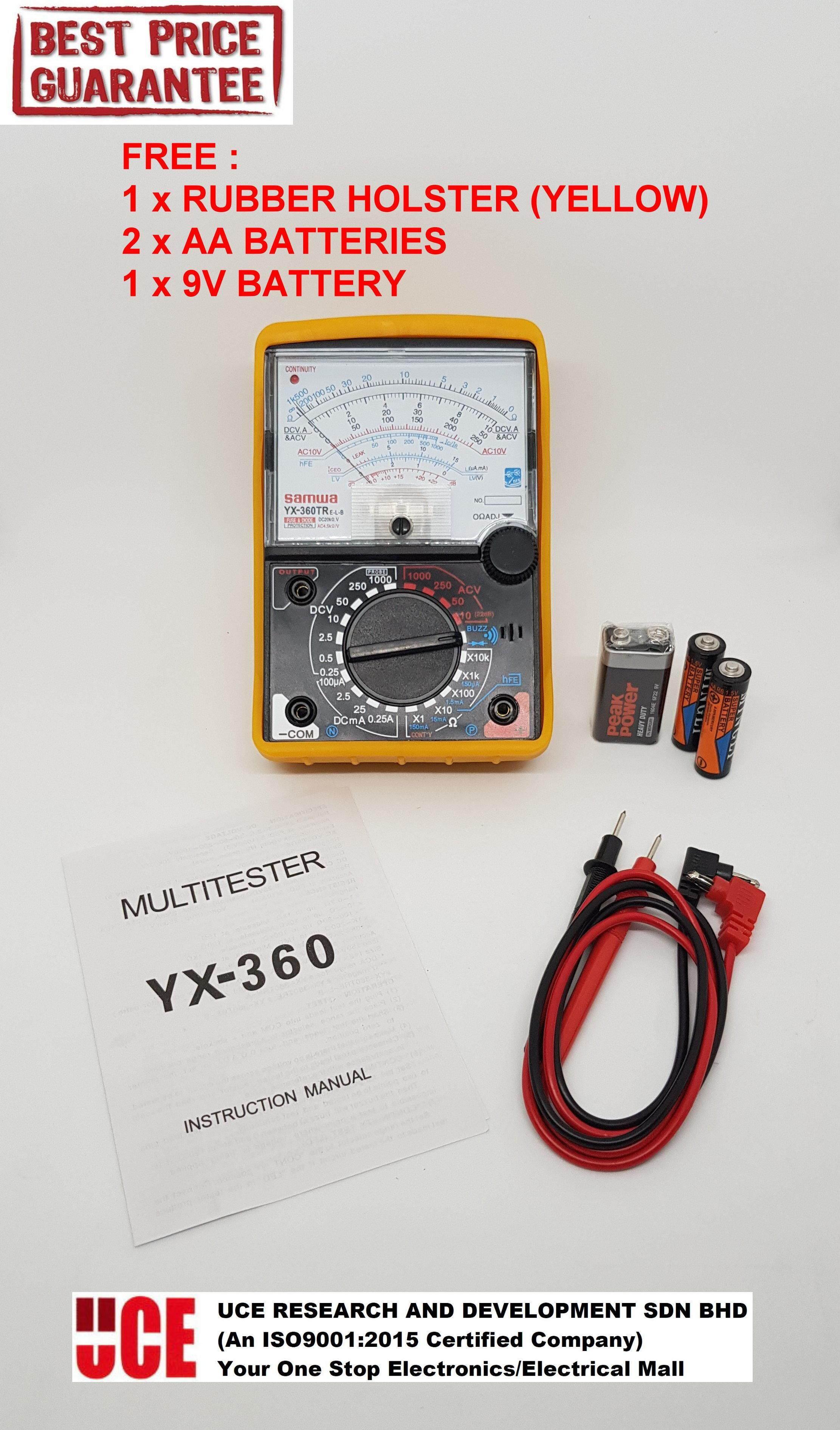 SAMWA ANALOG MULTIMETER / MULTI TESTER WITH BUZZER AND LED INDICATOR YX-360TRE-L-B