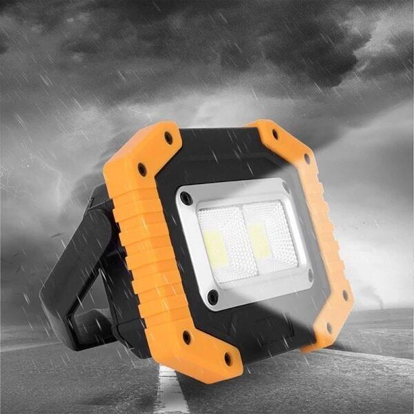 Đèn LED Làm Việc 30W 2 COB 1500LM Đèn Sạc Di Động Chống Nước Có Thể Sạc Lại Cho Cắm Trại Ngoài Trời Đi Bộ Đường Dài Sửa Chữa Xe Khẩn Cấp Và Chiếu Sáng Công Trường (Sản Phẩm Không Chứa Pin)