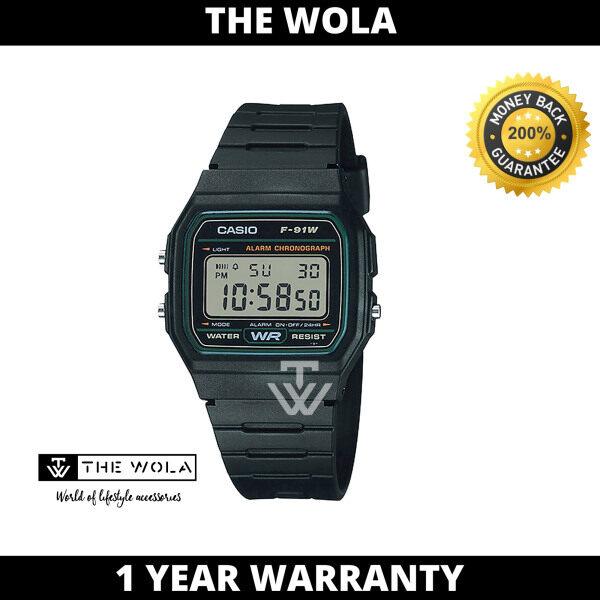 Casio Mens Digital F-91W-3DG Black Resin Band Sport Watch  (watch for man / jam tangan lelaki / casio watch for men / casio watch / men watch) Malaysia