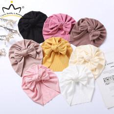 Mũ Xếp Trẻ Em Màu Trơn Có Nơ Mũ Bé Gái Sơ Sinh, Mũ Nón Cho Trẻ Sơ Sinh Mũ Beanie Cotton Mềm Co Giãn Cho Trẻ Tập Đi
