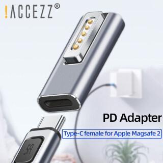 ACCEZZ Đầu Cắm Chuyển Đổi Từ Tính USB C Loại C Sạc Nhanh PD 60W Cho Apple Magsafe 2 MacBook Pro Air Samsung-Intl thumbnail