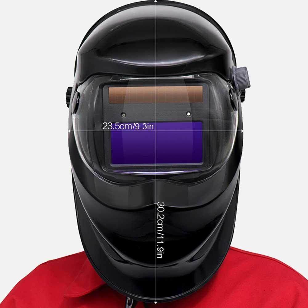 Outflety Solar Powered Helm Las Otomatis Gelap Hood dengan Adjustable Berbagai Shade Range 4/9