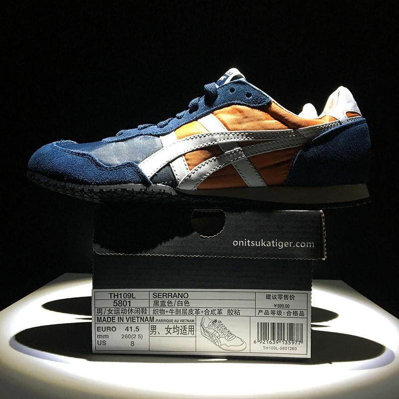 ASICS_Onitsuka_Tiger_鬼冢虎_SERRANO_blue_orange_low_mens_womens_sport_outdoor_shoes