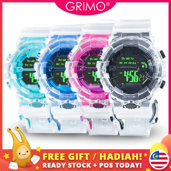 GRIMO Malaysia - Kay-den Gel Watch Strap Men Women Casual Jam Tangan Clock Pretty Cantik Lawa Gaya Digital Analog Girl Dinner Fashion Perempuan Wanita Gift Hadiah Ladies Girls Boy Travel New January 2021 ac11733 Malaysia