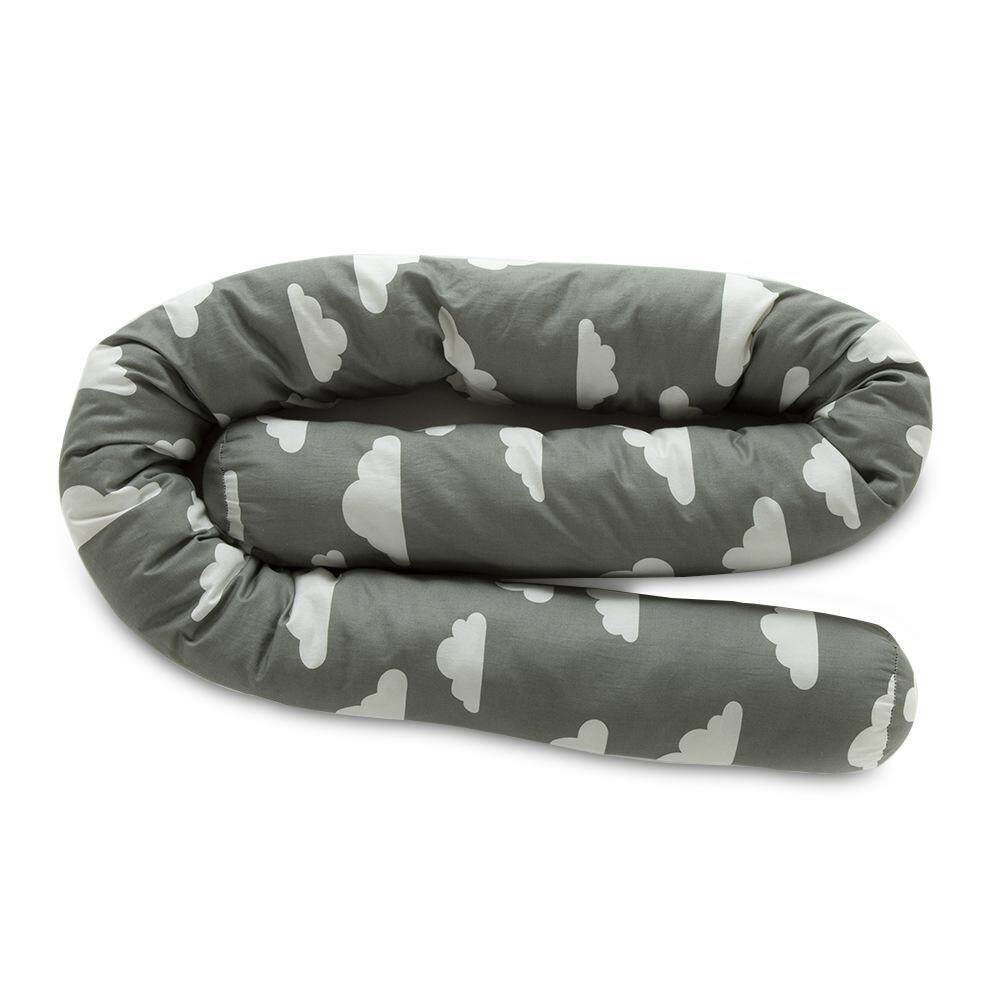 efuture Baby bed safety crash barrier, childrens room printed bed surrounded by comfortable organic cotton strip pillow