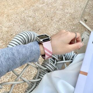 Dây Đeo Bằng Da Thật Sang Trọng Cho Apple Watch Band, Dây Đồng Hồ 44Mm 40Mm 38Mm 42Mm Dây Đeo Vòng Đeo Tay Dây Đeo Iwatch Series 3 4 5 SE 6 thumbnail
