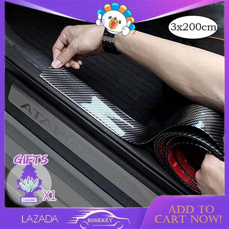 Rosekey Universal Car Door Guard Bumper Rear Bumper Guard Rubber And Rear Guard Bumper Protector Front Rear Door Entry Sill Guard Scuff Plate Protectors For Most Cars 100% Waterproof 3x200cm Cb006 By Rosekey Car Franchise Store.