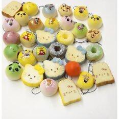 MYR 123 10 Pcs Kawaii Mini Squishy Soft Simulated Food Panda Bread Cake Buns Pendants Key