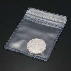 100x Zip Lock Individual Coin Badge Holders Clear Plastic Wallets 6*8cm By Teamtop.