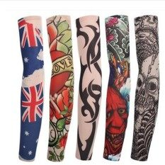 10pcs Tattoo Sleeve Tattoo Sleeves outdoor sunscreen arm sleeve and seamless arm style random