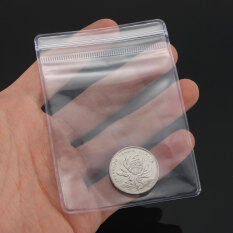 10x Zip Lock Individual Coin Badge Holders Clear Plastic Wallets 7*10cm By Teamtop.